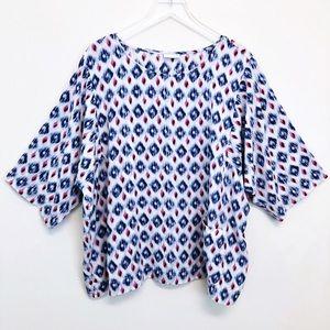 J. Jill | Ikat Pocket Kimono Sleeve Tunic Top
